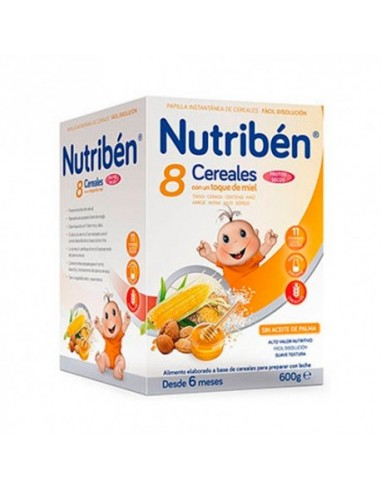 Nutriben 8 Cereales y Miel Frutos Secos 600gr