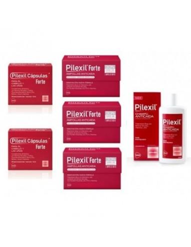 Pilexil Forte Anticaída Pack Tratamiento de Choque 3meses