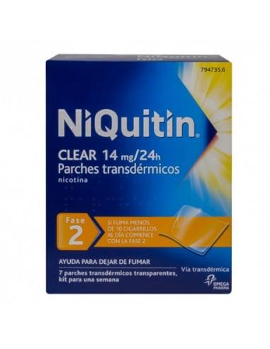 Niquitin Clear 14mg/24h 7 Parches Transdérmicos