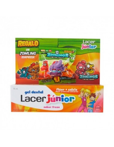 Lacer Junior Gel Dentífrico Fresa 75ml +Regalo